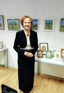 Eugenija Purienė parodoje Elektrėnų bibliotekoje (2017-09-30)