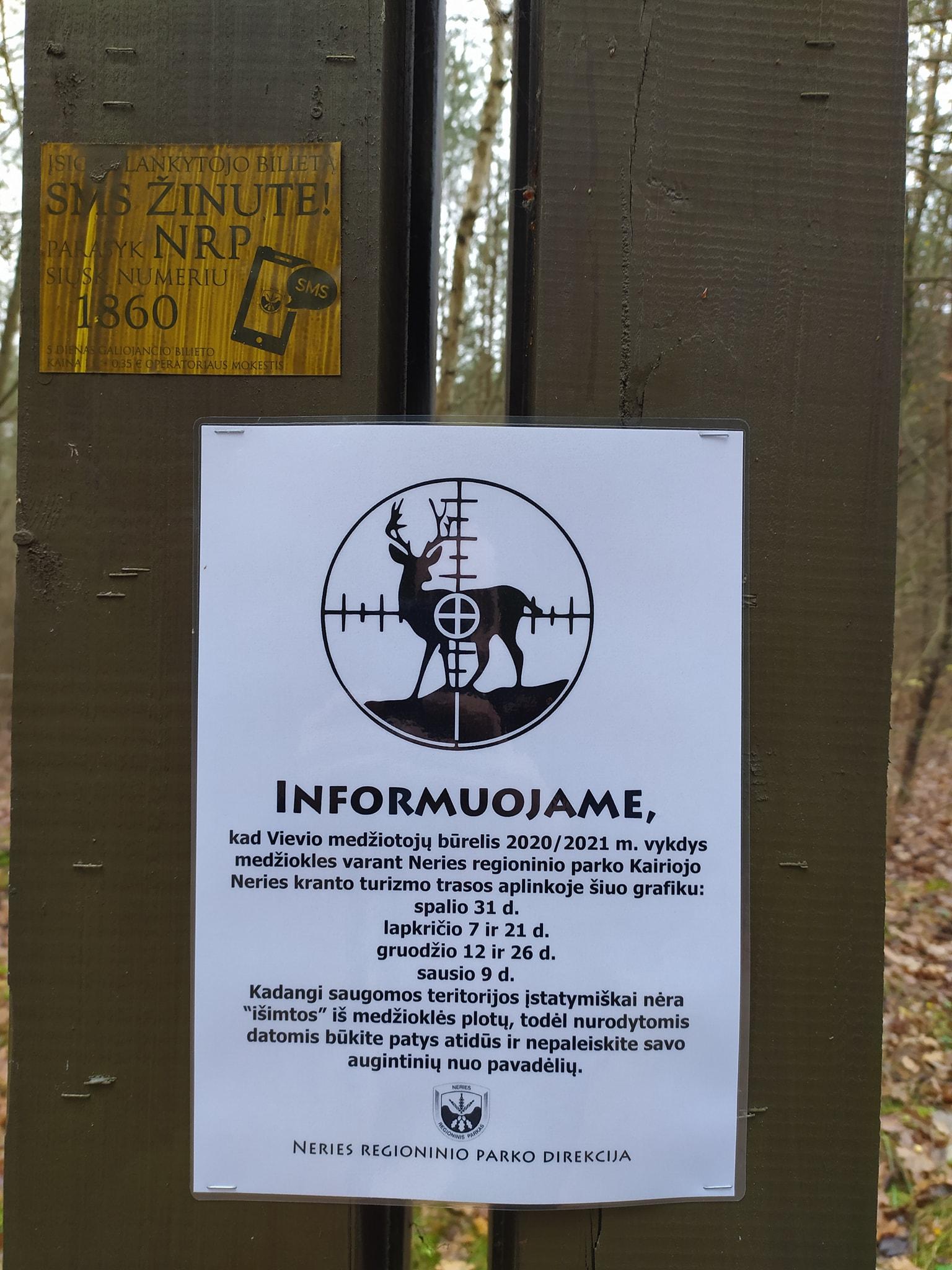 Papiktino medžioklė regioniniame parke