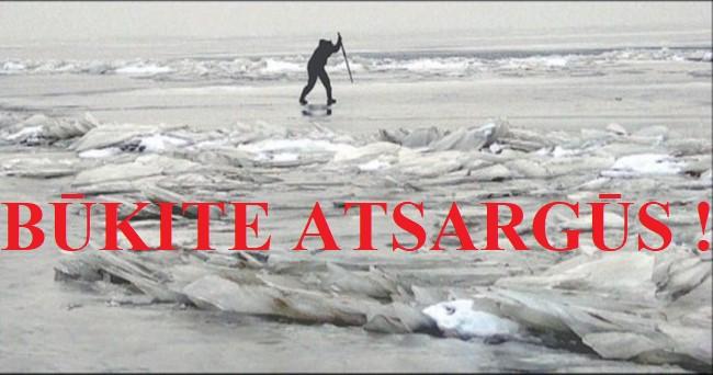 Elektrėnų priešgaisrinė gelbėjimo tarnyba įspėja, kad lipti ant ledo pavojinga!