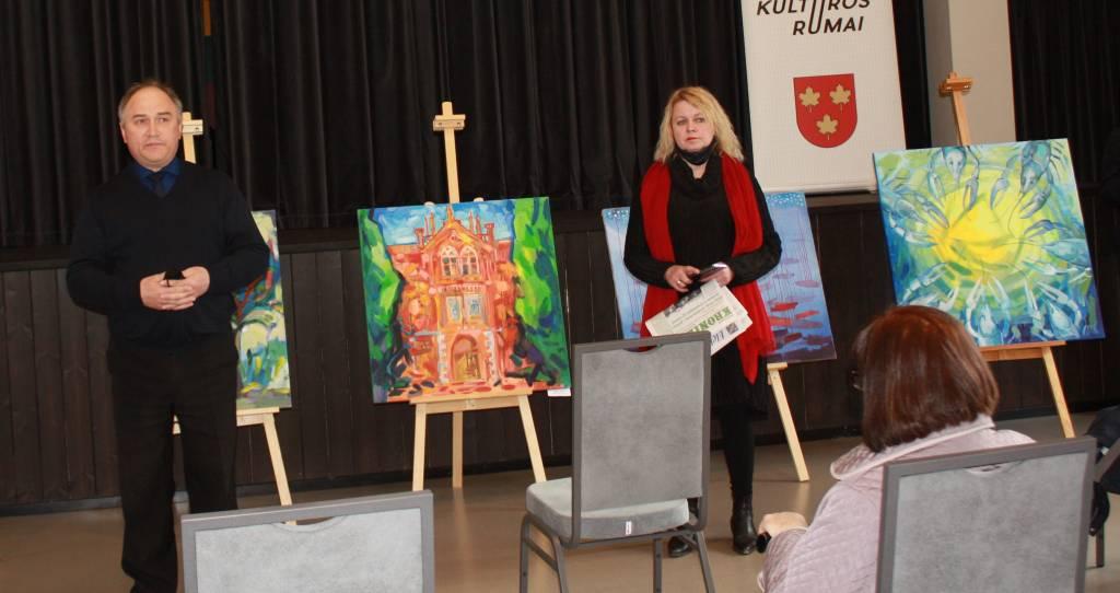 Augenio Kaspučio tapybos darbų paroda: autorius parodoje dalyvavo iš Aukštybių