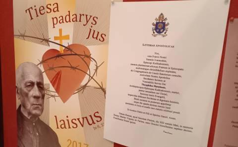 Kaišiadorių vyskupijos kurijos kancleris – kun. Gediminas Tamošiūnas: vienas svarbiausių Vyskupijos kurijos archyvo dokumentų rinkinių – Palaimintojo Teofiliaus beatifikacijos byla, paskleidusi žinią ir Visuotinėje Bažnyčioje, ir plačiai pasaulyje